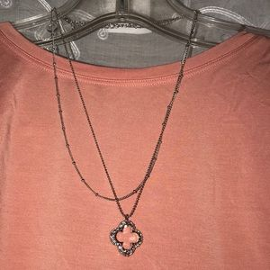 Jewelry - Delicate Silver Layered Chain CZ 💎Clover Necklace